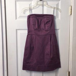 Guess strapless dress.